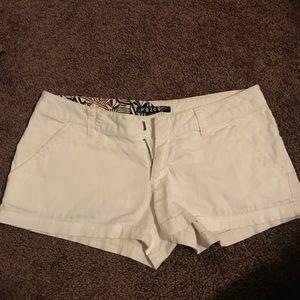 White volcom shorts